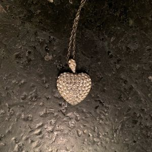 Crystal embellished heart necklace